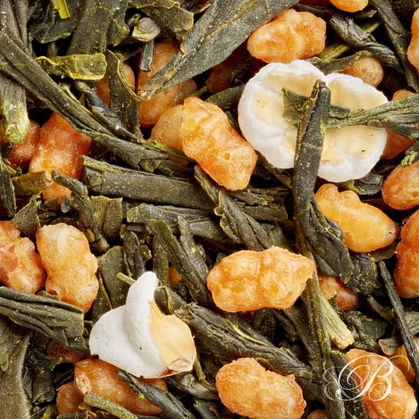 japon-genmaicha photo feuilles